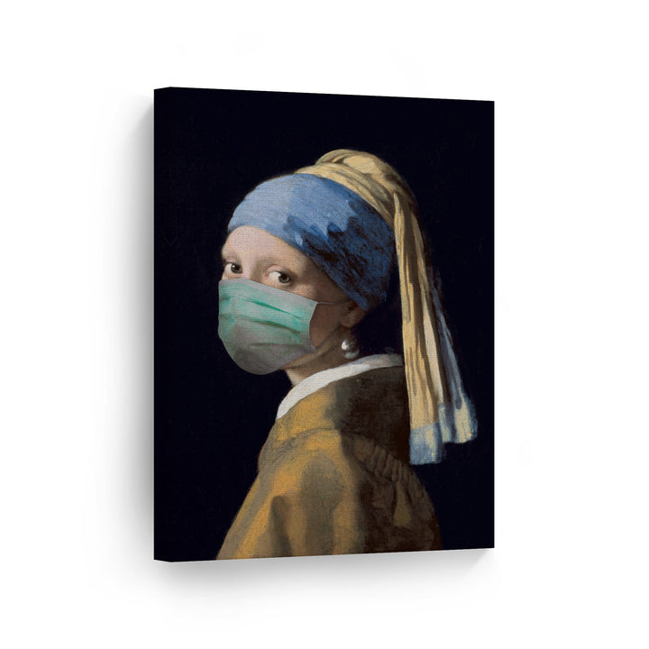 Coronavirus Covid 19 Funny Face Mask Wall Decor Art Canvas Print Metal Print