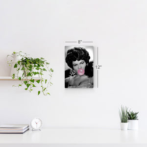 Eartha Kitt Pink Bubble Gum Pop Art Canvas Prints Metal Prints