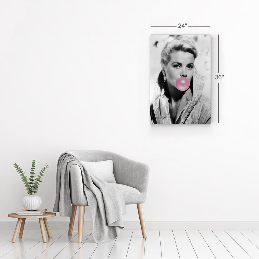 Grace Kelly Pink Bubble Gum Pop Art Canvas Prints Metal Prints