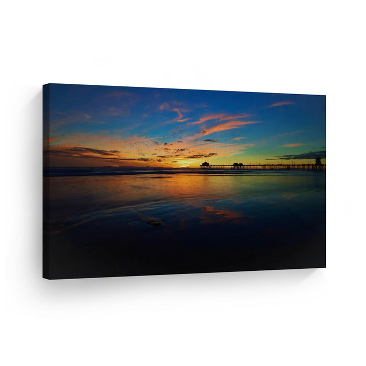 Huntington Beach Pier Wall Art Canvas Prints Metal Prints