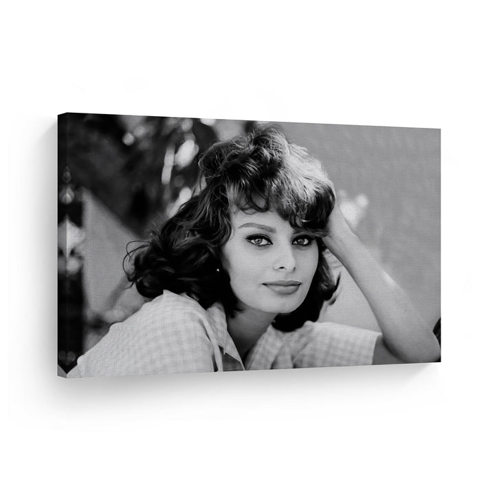 Sophia Loren Black and White Iconic Wall Art Canvas Prints Metal Prints