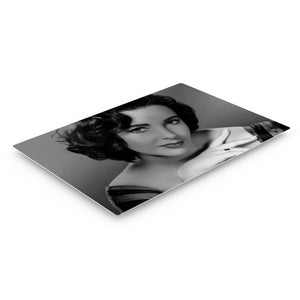 Elizabeth Taylor Black and White Iconic Wall Art Canvas Prints Metal Prints