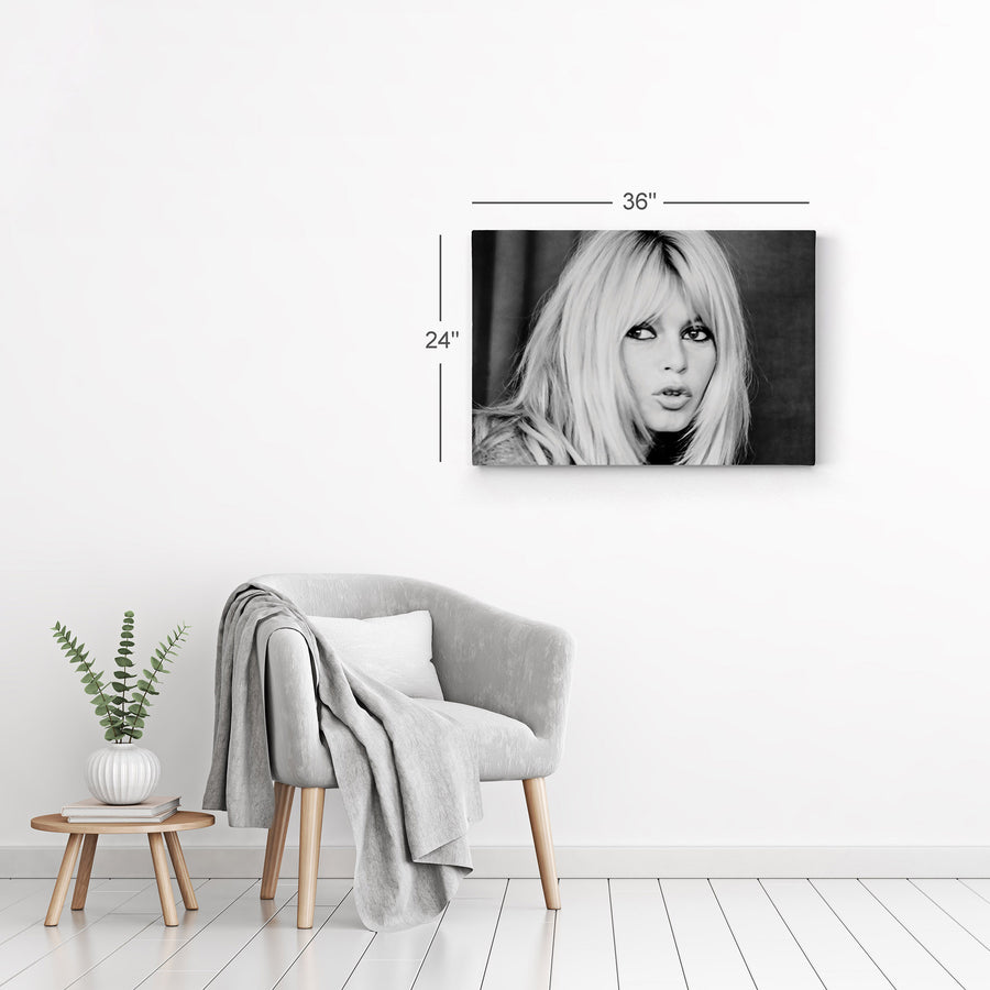 Brigitte Bardot Black and White Iconic Wall Art Canvas Prints Metal Prints