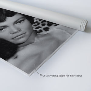 Eartha Kitt Quote Black and White Iconic Wall Art Canvas Prints | Metal Prints