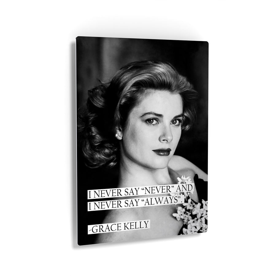 Princess Grace Kelly Quote Black and White Iconic Canvas Print Metal Print