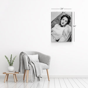 Elizabeth Taylor Black and White Iconic Canvas Print Metal Print