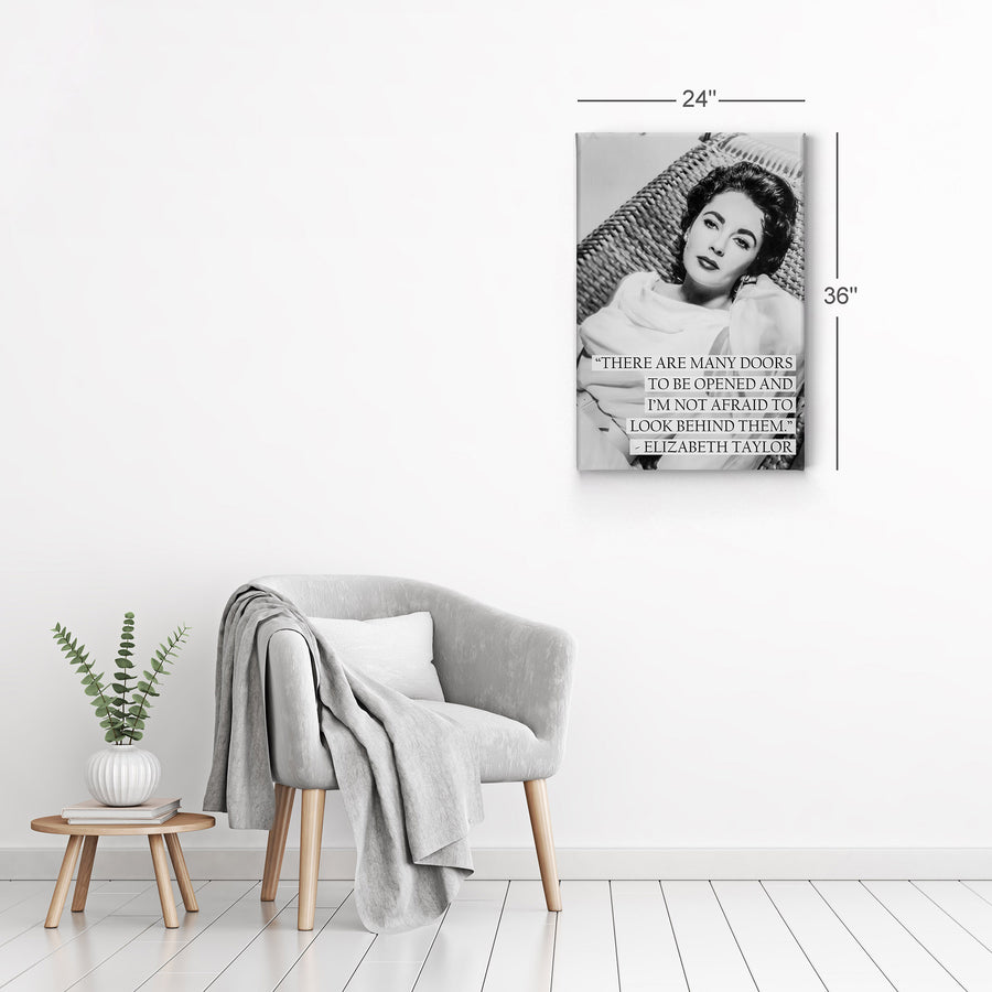 Elizabeth Taylor Quote Black and White Iconic Canvas Print Metal Print