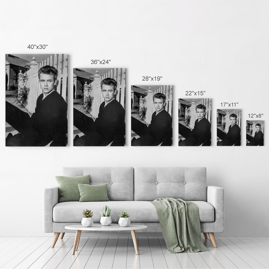 James Dean Black and White Iconic Canvas Print Metal Print
