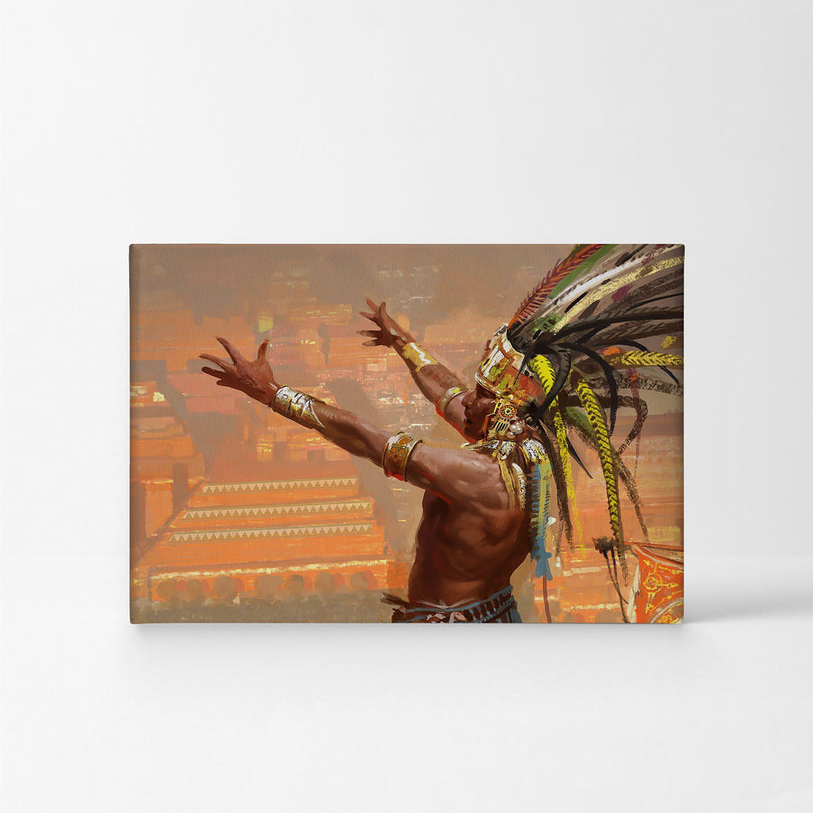 Native American Indian Art Painting Wall Art Canvas Prints Metal Prints