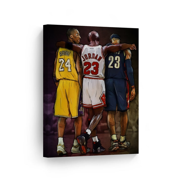 Kobe Bryant Black Mamba Canvas Metal Print Poster Wall Decor Art Basketball NBA Los Angeles Lakers Sport Dunks
