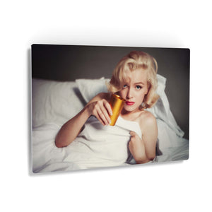 Marilyn Monroe in the Bed Iconic Wall Art Canvas Prints Metal Prints