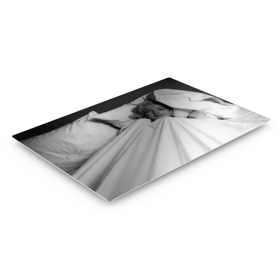 Marilyn Monroe in White Sheets Iconic Wall Art Canvas Prints Metal Prints