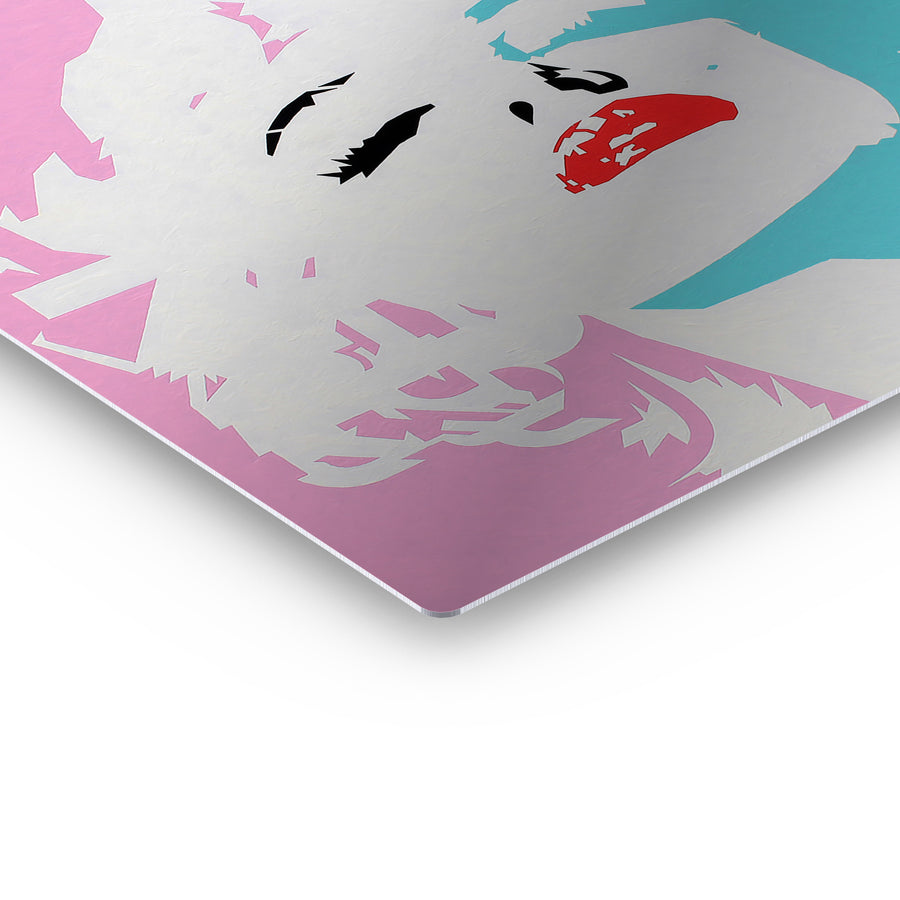 Marilyn Monroe Pink and Blue Pop Art Iconic Wall Art Canvas Prints Metal Prints
