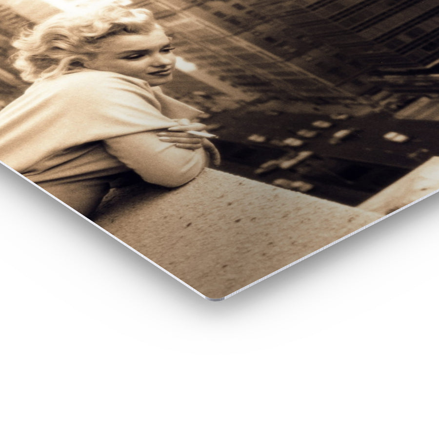 Marilyn Monroe New York Rooftop Iconic Wall Art Canvas Prints Metal Prints