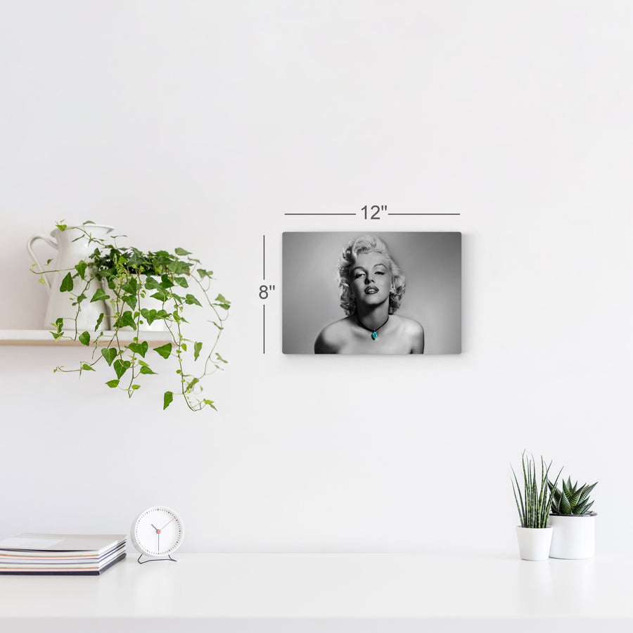 Marilyn Monroe Black and White Sexy Look Iconic Wall Art Canvas Prints Metal Prints
