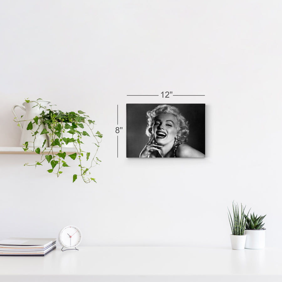 Marilyn Monroe Famous Laughing Iconic Wall Art Canvas Prints Metal Prints