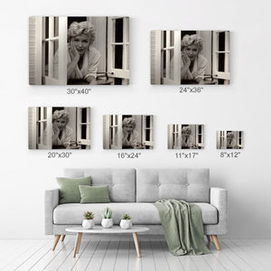 Marilyn Monroe in the Window Iconic Wall Art Canvas Prints Metal Prints