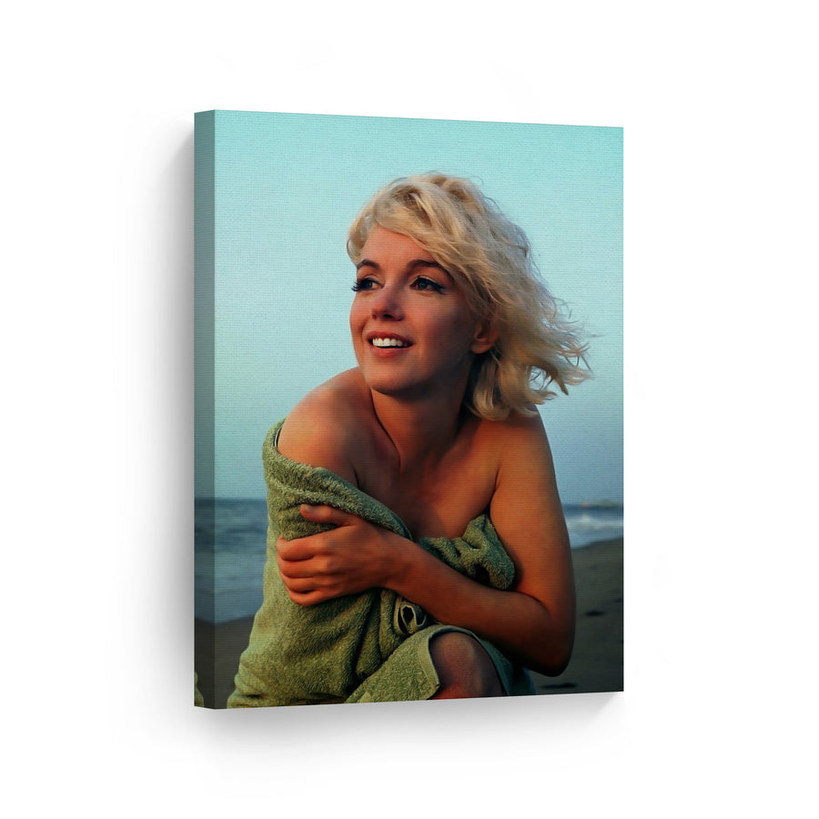 Marilyn Monroe at the Beach Wall Art Canvas Prints Metal Prints