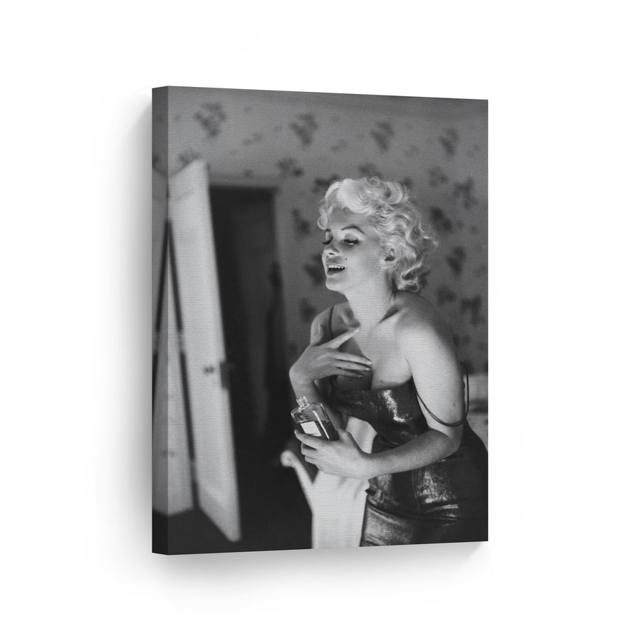 Marilyn Monroe Parfume Wall Art Canvas Prints Metal Prints