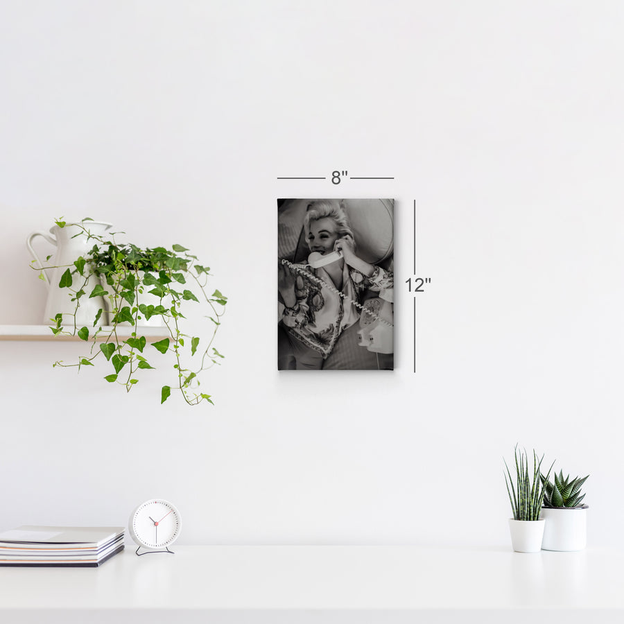 Marilyn Monroe on the Phone Wall Art Canvas Prints Metal Prints