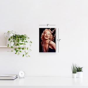 Marilyn Monroe Famous Laughing Iconic Wall Art Canvas Prints | Metal Prints