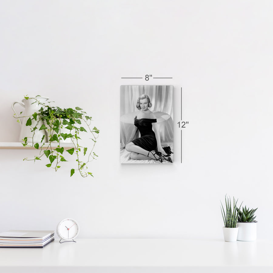 Marilyn Monroe in Black Wall Art Canvas Prints Metal Prints