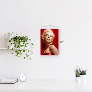 Marilyn Monroe Smile Black and White Wall Art Canvas Prints Metal Prints