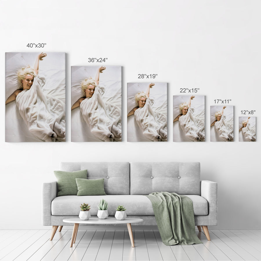 Marilyn Monroe Nude Sexy Wall Art Canvas Prints Metal Prints