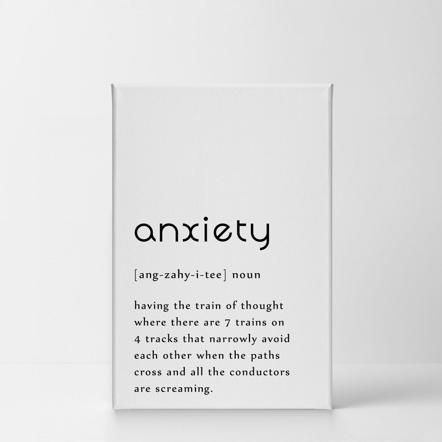 Funny Noun Dictionary Definition Of Anxiety Word Style 2 Wall Art Smile Art Design