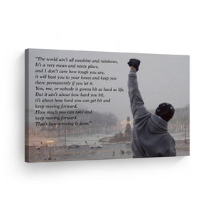 Rocky Balboa Motivational Quote Canvas Print Wall Art Hope Artwork Sylvester Canvas Prints Metal Prints