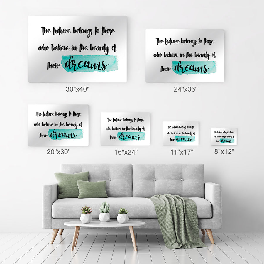 Motivational Inspirational Quote Wall Art Canvas Prints Metal Prints