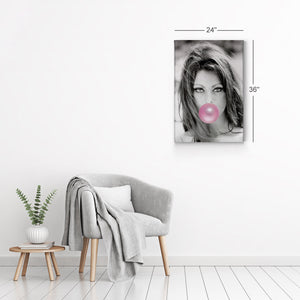 Sophia Loren Pink Bubble Gum Pop Art Canvas Prints Metal Prints