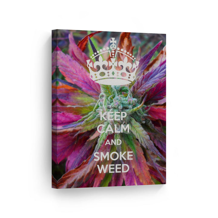 Smoking Marijuana Cannabis Weed Botanical 420 Canvas Print Metal Print