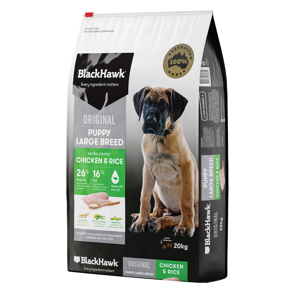 BlackHawk Puppy Large Breed Chicken & Rice 20kg