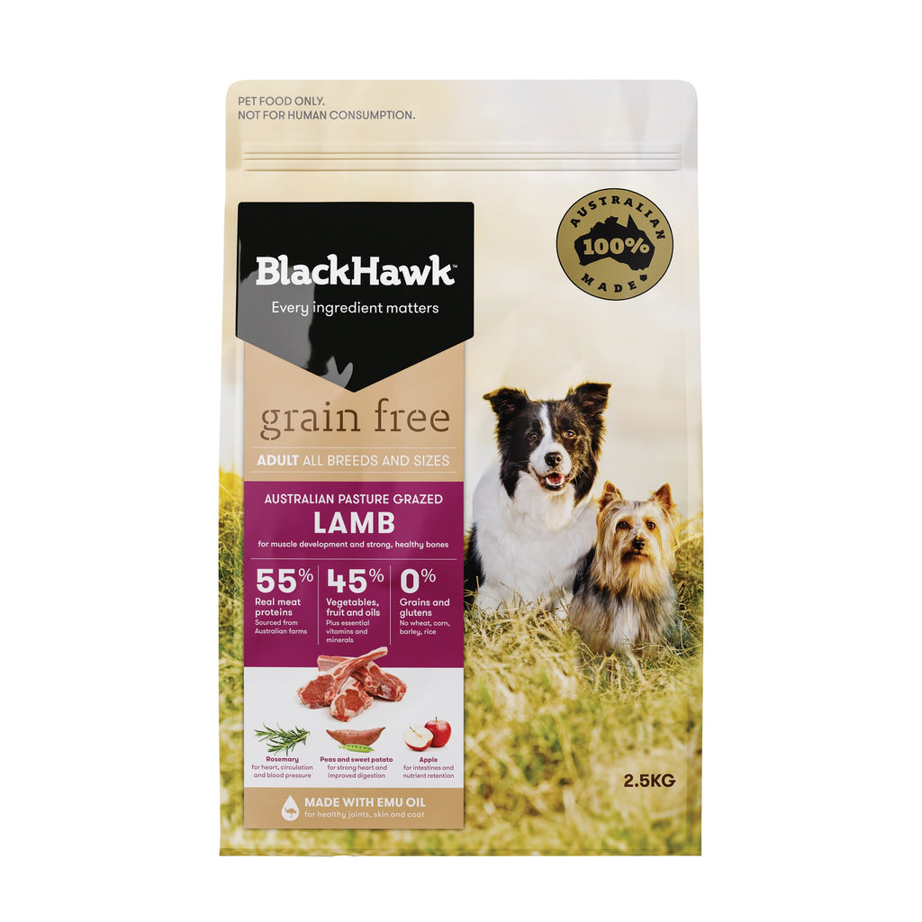 BlackHawk Dog Grain Free Lamb 2.5kg