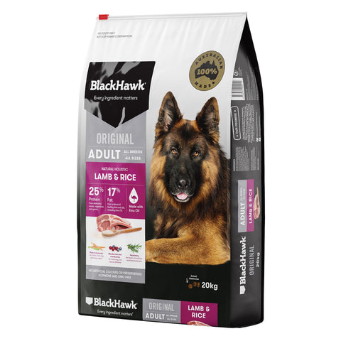 BlackHawk Dog Adult Lamb & Rice 20kg