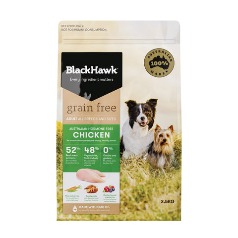 BlackHawk Dog Grain Free Chicken 2.5kg