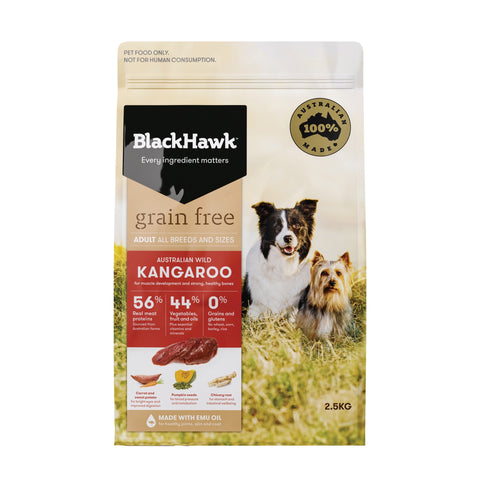 BlackHawk Dog Grain Free Kangaroo 2.5kg