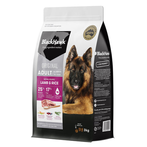 BlackHawk Dog Adult Lamb & Rice 3kg