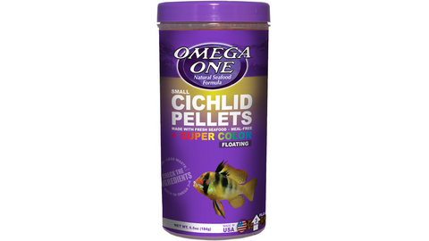 Omega One Cichlid Pellets Small 184g (Floating)