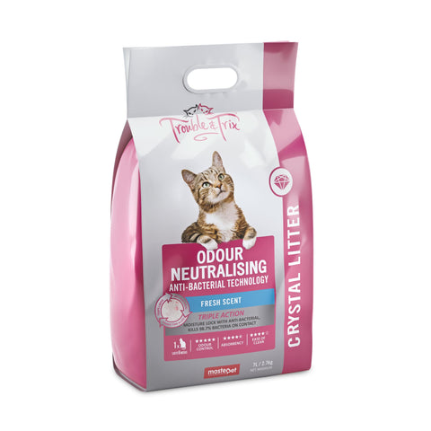 Trouble & Trix Anti-Bacterial Crystal Litter 7L