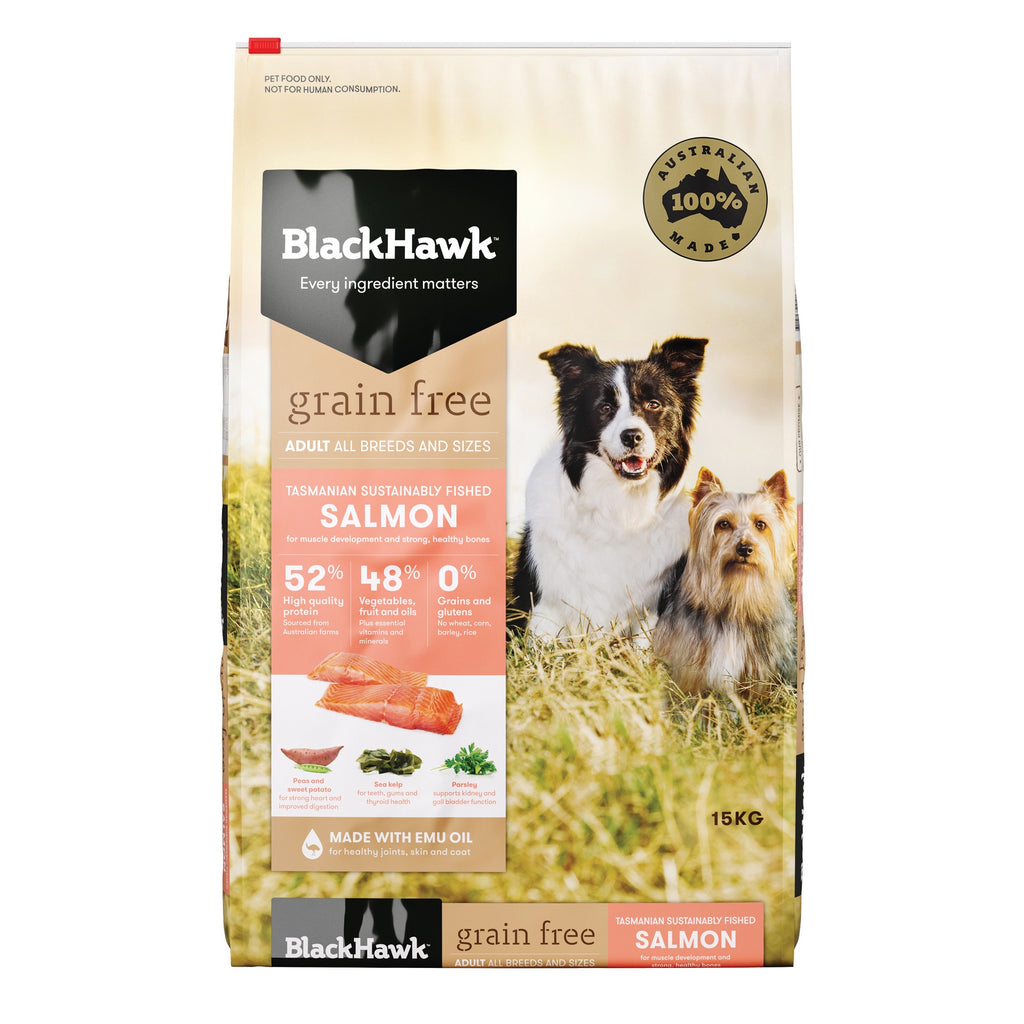 BlackHawk Dog Grain Free Salmon 15kg