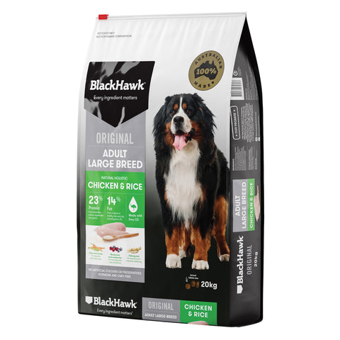 BlackHawk Dog Adult Large Breed Chicken & Rice 20kg