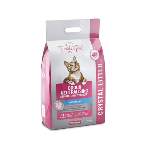 Trouble & Trix Anti-Bacterial Crystal Litter 15L