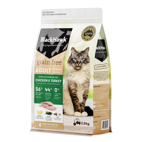 BlackHawk Cat Grain Free Chicken & Turkey 2.5kg