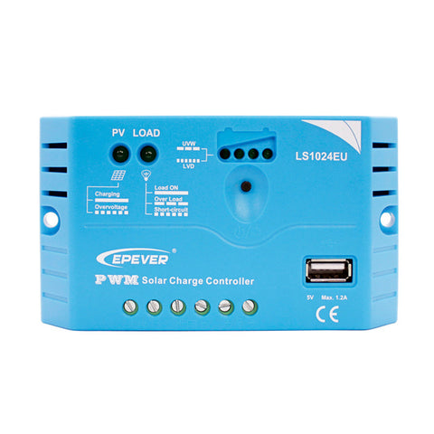 Epsolar Landstar 1024EU 10A PWM Charge Controller with USB - 12V/24V