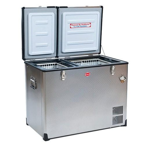 SnowMaster BD/C-95D Stainless Steel Dual Fridge Freezer Double Door