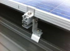 Solar Mount 4 X 60 / 72 Cell Portrait Orientation onto Angled Klip-Lock Roof
