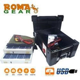 RomaGear  Complete Portable Solar Kit With Battery 60W 12V DC