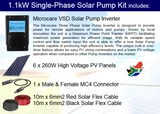 Microcare Solar Pump 1.1kW Single Phase Pump Kit